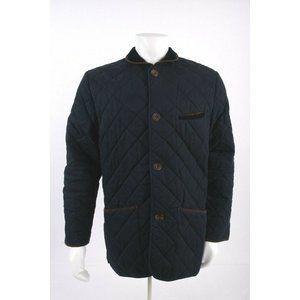Charles Thywhitt Men Navy Blue Quilted Coat Jacket